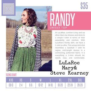 LuLaRoe Tops - LuLaRoe Randy t
